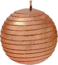 Парфюмерия и Козметика Декоративна свещ, топка, мед, 8 см - Artman Glamour
