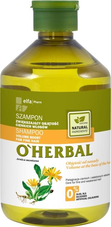 """Шампоан за обем при тънка коса """"Обем от корените"""" - O'Herbal"""