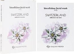 "Парфюмерия и Козметика Памучна маска за лице ""Швейцария"" - Calluna Medica Switzerland Lifting Biocellulose Facial Mask"