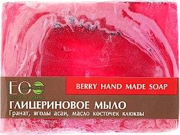 Парфюмерия и Козметика Глицеринов сапун с екстракт от асаи и масло от червена боровинка - ECO Laboratorie Berry Hand Made Soap