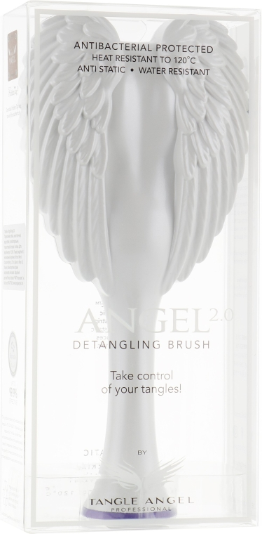 Четка за коса - Tangle Angel 2.0 Detangling Brush White (19 см)