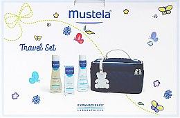 Парфюмерия и Козметика Комплект за пътуване - Mustela Beauty Travel Set (shmp/200ml + foam/200ml + cr/40ml + bag)