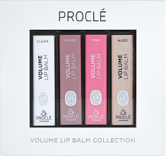 Парфюми, Парфюмерия, козметика Комплект червила, увеличаващи обема на устните - Procle Volume Lip Balm (lip/balm/3.5g x 4)