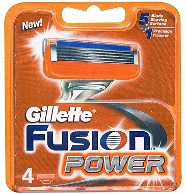 Сменяеми ножчета за бръснене, 4 бр. - Gillette Fusion Power — снимка N1