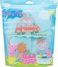 """Парфюми, Парфюмерия, козметика Комплект гъби за баня """"Прасето Пепа"""" 3бр, пътешествие - Suavipiel Peppa Pig Bath Sponge"""