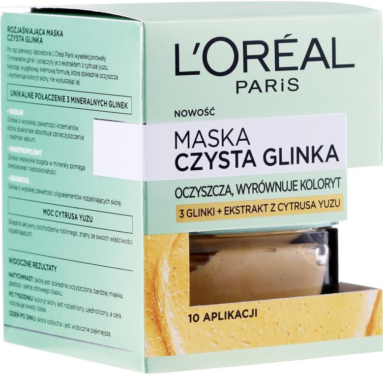Маска за лице с натурална глина и лимон юзу - L'Oreal Paris Skin Expert Mask