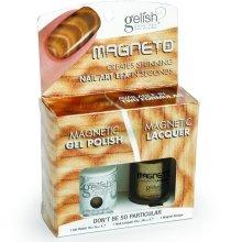 Парфюми, Парфюмерия, козметика Комплект лак за нокти - Gelish Dont Be So Particular Magneto Combo Kit (nail/15ml + nail/10ml)