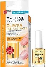 Парфюмерия и Козметика Подхранващо масло за нокти и кожички - Eveline Cosmetics Nail Therapy Professional