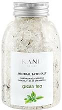 """Парфюмерия и Козметика Минерални соли за вана """"Зелен чай"""" - Kanu Nature Mineral Green Tea Bath Salt"""