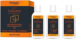 Парфюмерия и Козметика Комплект за коса - Prosalon Hot Therapy (маска/50ml + шампоан/50ml + балсам/50ml)