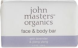 Парфюмерия и Козметика Сапун за лице и тяло - John Masters Organics Lavender Rose Geranium & Ylang Ylang Face & Body Bar