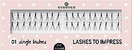 Парфюмерия и Козметика Изкуствени мигли - Essence Lashes To Impress 01 Single Lashes