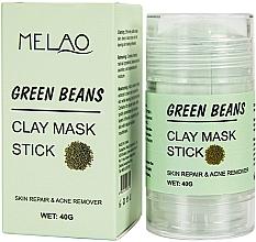 Парфюмерия и Козметика Стик глинена маска за лице със зелен боб - Melao Green Beans Clay Mask Stick
