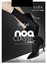 """Парфюмерия и Козметика Къси дамски микрофибърни чорапи """"Mira"""" 40 Den, 2 чифта, black - Knittex"""