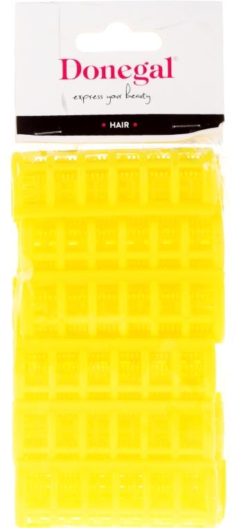 Ролки за коса 9218, 20 мм, жълти, 12 бр. - Donegal Hair Curlers — снимка N1
