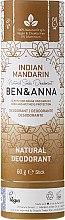 Парфюмерия и Козметика Дезодорант на базата на сода с аромат на индийска мандарина - Ben & Anna Natural Soda Deodorant Paper Tube Indian Mandarine