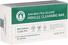 Парфюмерия и Козметика Сапун за лице - Some By Mi AHA/BHA/PHA 30 Days Miracle Cleansing Bar
