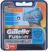 Парфюми, Парфюмерия, козметика Сменяеми ножчета за бръснене, 3 бр. - Gillette Fusion Proshield Chill