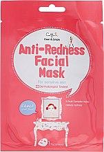 Парфюмерия и Козметика Памучна маска против зачервяване и раздразнение на чувствителна кожа - Cettua Anti-Redness Facial Mask