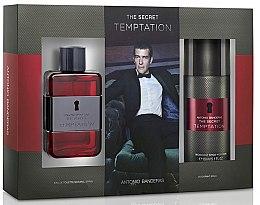Парфюми, Парфюмерия, козметика Antonio Banderas The Secret Temptation - Комплект (edt/100ml + deo/150ml)
