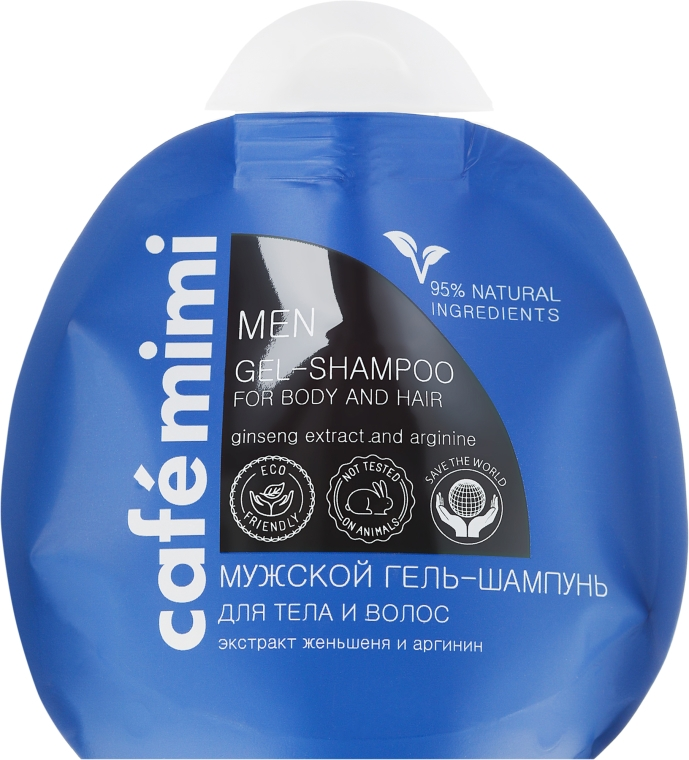 "Мъжки гел-шампоан ""Женшен и аргинин"" - Le Cafe de Beaute Cafe Mimi Men Gel-Shampoo For Body And Hair"