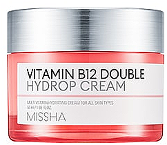 Парфюми, Парфюмерия, козметика Хидратиращ крем за лице с витамин В12 - Missha Vitamin B12 Double Hydrop Cream