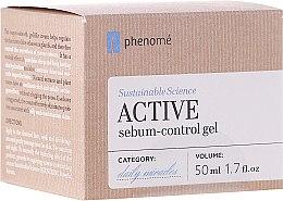 Парфюмерия и Козметика Активен крем-гел за лице с хиалуронова киселина - Phenome Sustainable Science Active Sebum-Control Gel