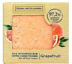 Парфюмерия и Козметика Твърд шампоан-балсам за коса с грейпфрут - Stara Mydlarnia Grapefruit 2in1 Shampoo Bar