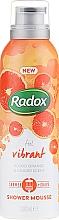 Парфюмерия и Козметика Мус за душ и бръснене - Radox Feel Vibrant Blood Orange & Ginger Scent Shower Mousse