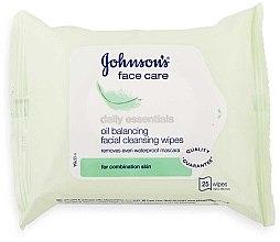Парфюми, Парфюмерия, козметика Мокри кърпи за лице - Johnson's Daily Essential Oil Balancing Facial Cleansing Wipes