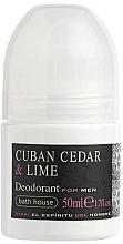 Парфюмерия и Козметика Bath House Cuban Cedar & Lime - Рол-он дезордорант за мъже