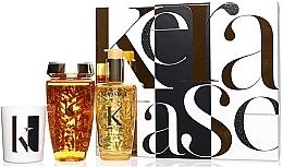 Парфюмерия и Козметика Комплект за коса - Kerastase Elixir Ultime Luxury Gift Set (шампоан/250ml + масло/100ml + свещ/100g)
