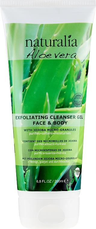 Екфолиращ измиващ гел за лице - Naturalia Aloe Vera Exfoliating Cleanser Gel Face & Body — снимка N1