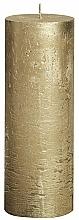 Парфюмерия и Козметика Цилиндрична свещ Metallic Gold, 190/68 мм - Bolsius Candle