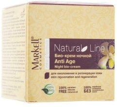 "Парфюми, Парфюмерия, козметика Нощен био-крем ""AntiAge"" - Markell Cosmetics Natural Line"
