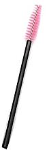 Парфюмерия и Козметика Четки за мигли с найлонови косъмчета, черно със светлорозово - Novalia Group