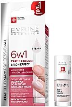 Парфюмерия и Козметика Укрепващ лак за нокти 6в1 - Eveline Cosmetics Nail Therapy Professional