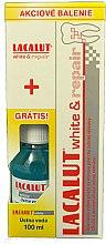 Парфюми, Парфюмерия, козметика Комплект - Lacalut White & Repair Set (паста за зъби/75ml+вода за уста/100ml)