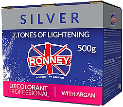 Парфюмерия и Козметика Изсветляваща пудра за коса с арганово масло - Ronney Dust Free Bleaching Powder With Argan