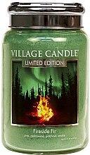 Парфюми, Парфюмерия, козметика Ароматна свещ в бурканче - Village Candle Fireside Fir Glass Jar