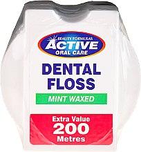 Парфюмерия и Козметика Зъбен конец с аромат на мента - Beauty Formulas Active Oral Care Dental Floss Mint Waxed 200m