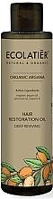 Парфюмерия и Козметика Дълбоко възстановяващо масло за коса - Ecolatier Organic Argana Hair Restoration Oil