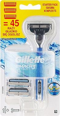 Самобръсначка със 3 сменяеми ножчета - Gillette Mach 3 Turbo Start — снимка N1