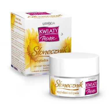 Подхранващ крем за лице - Uroda Kwiaty Polskie Stonecznik Cream — снимка N1