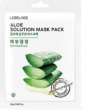 Парфюмерия и Козметика Памучна маска за лице с алое - Lebelage Aloe Solution Mask