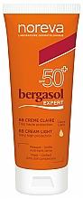 Парфюмерия и Козметика BB крем за лице SPF50+ - Noreva Laboratoires Bergasol Expert BB Cream Light SPF50+