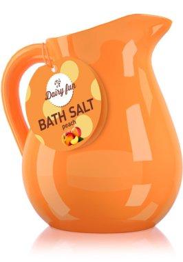Соли за вана, праскова - Delia Dairy Fun Bath Salt — снимка N1