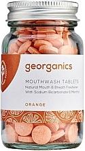 """Парфюмерия и Козметика Таблетки за почистване на устна кухина """"Портокал"""" - Georganics Mouthwash Tablets Orange"""