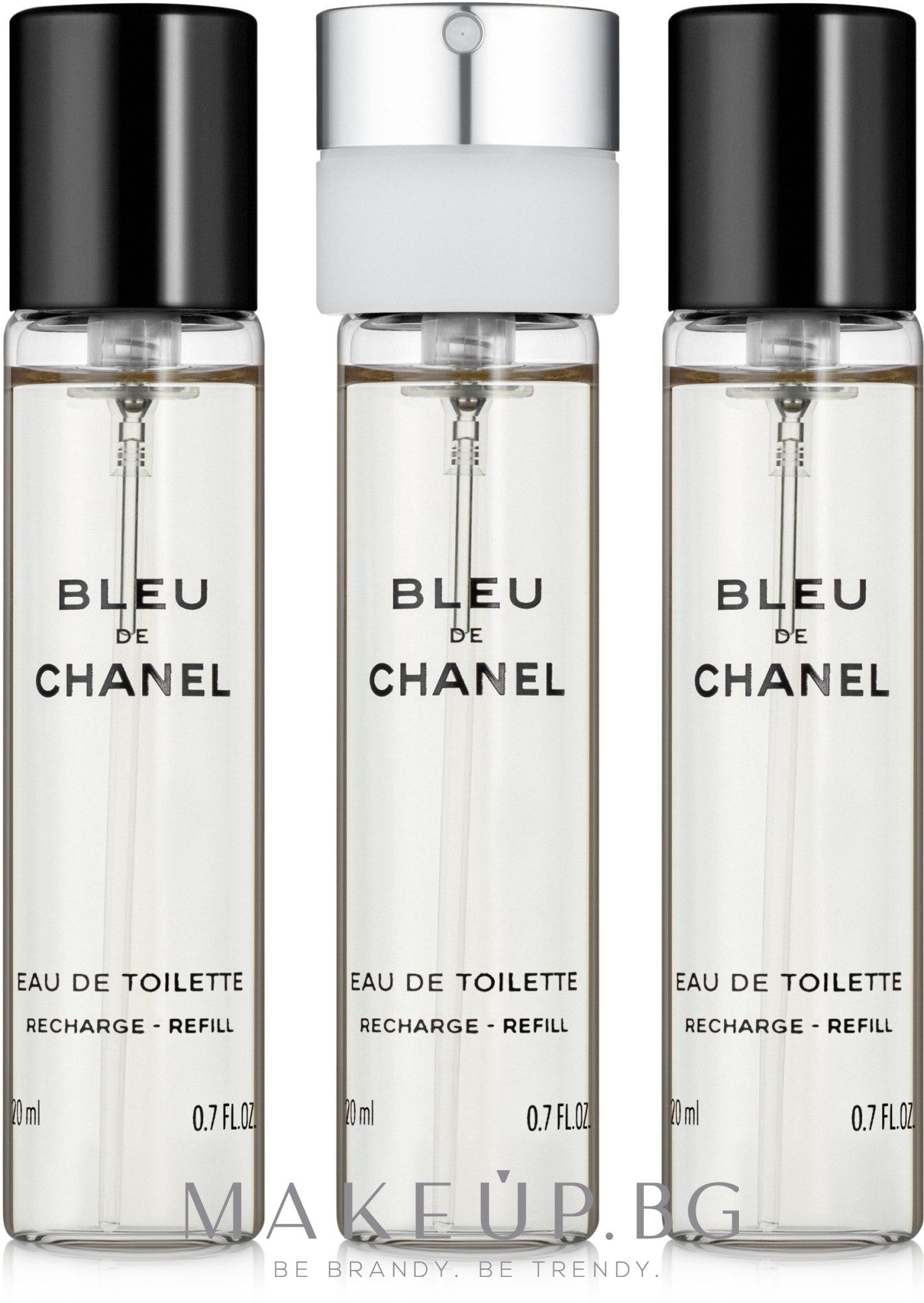 Chanel Bleu de Chanel - Тоалетна вода (пълнител) — снимка 3x20 ml