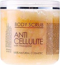 Парфюмерия и Козметика Антицелулитен пилинг за тяло - Hristina Cosmetics Sezmar Professional Body Scrub Anti Cellulite With Pineapple